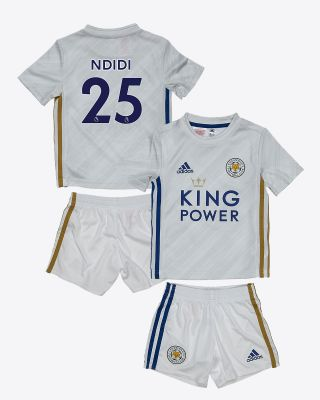 Wilfred Ndidi - Leicester City White Away Shirt 2020/21 - Mini Kit