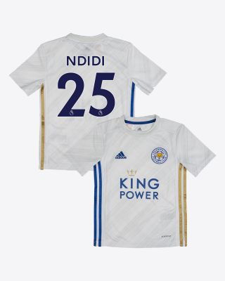 Wilfred Ndidi - Leicester City White Away Shirt 2020/21 - Kids