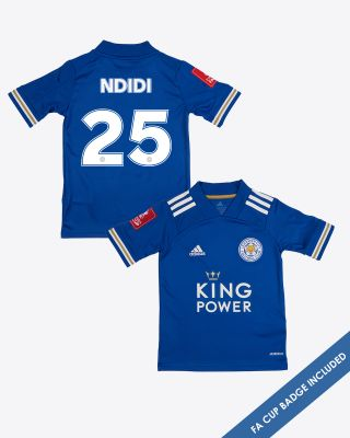 Wilfred Ndidi - Leicester City King Power Home Shirt 2020/21 - Kids FA CUP