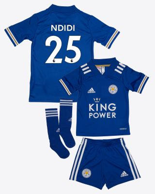 Wilfred Ndidi - Leicester City King Power Home Shirt 2020/21 - Mini Kit