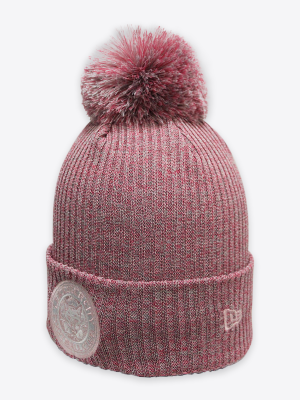 New Era - Womens Pink Crest Cuff Bobble Hat