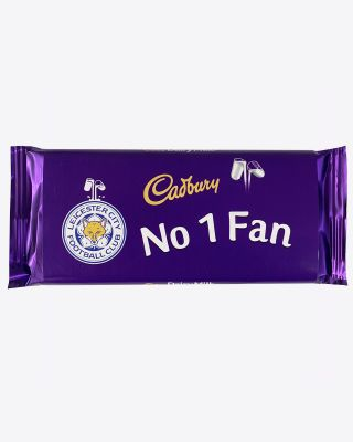 Leicester City 110g No.1 Fan Cadbury Bar
