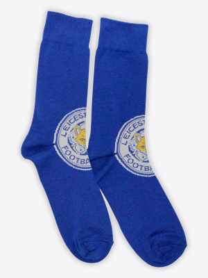 Leicester City Mens Novelty Crest Socks