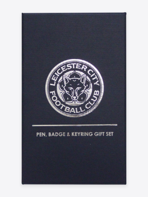 Leicester City Pen, Keyring & Badge Gift Set
