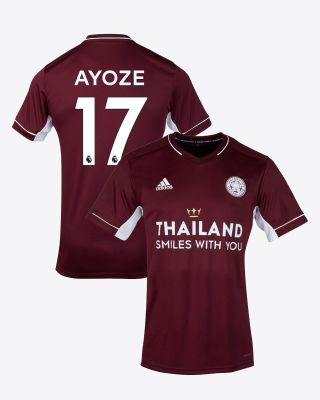 Perez Ayoze - Leicester City Maroon Away Shirt 2020/21 - Kids