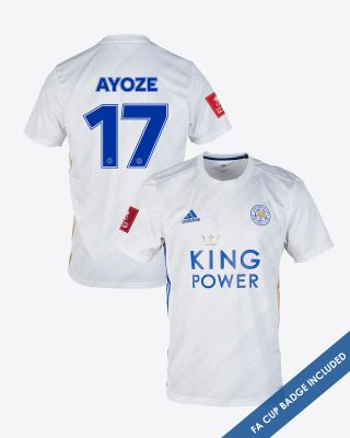 Perez Ayoze - Leicester City White Away Shirt 2020/21 - FA CUP