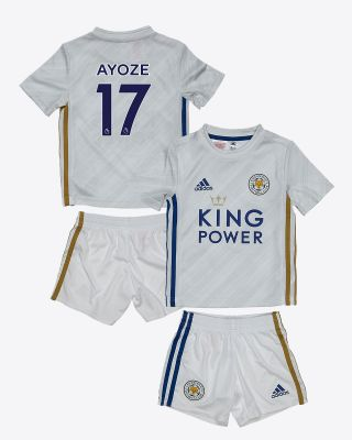 Perez Ayoze - Leicester City White Away Shirt 2020/21 - Mini Kit