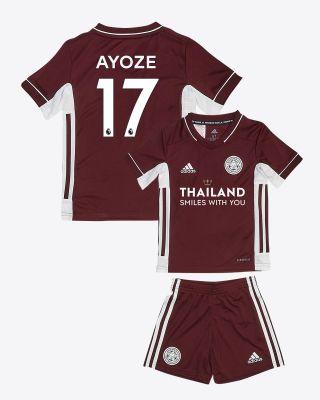 Perez Ayoze - Leicester City Maroon Away Shirt 2020/21 - Mini Kit