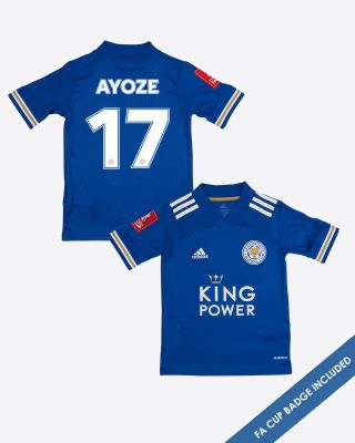 Perez Ayoze - Leicester City King Power Home Shirt 2020/21 - Kids FA CUP