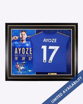 Leicester City 2019/20 Ayoze Perez Framed Signed Home Shirt
