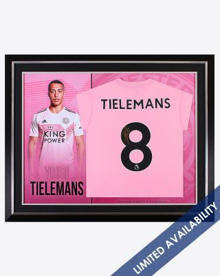 Leicester City 2019/20 Season Tielemans Framed Signed Shirt