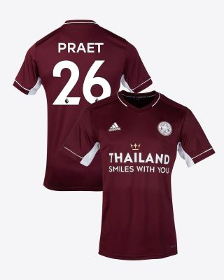 Dennis Praet - Leicester City Maroon Away Shirt 2020/21 - Kids