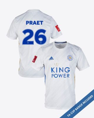 Dennis Praet - Leicester City White Away Shirt 2020/21 - FA CUP