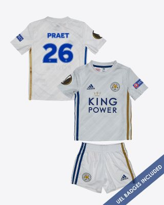 Dennis Praet - Leicester City Away Shirt 2020/21 - Mini Kit UEL