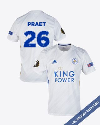 Dennis Praet - Leicester City White Away Shirt 2020/21 - UEL