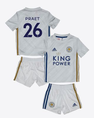 Dennis Praet - Leicester City White Away Shirt 2020/21 - Mini Kit