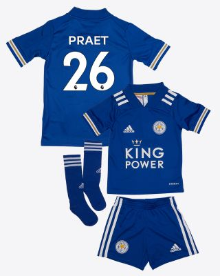 Dennis Praet - Leicester City King Power Home Shirt 2020/21 - Mini Kit