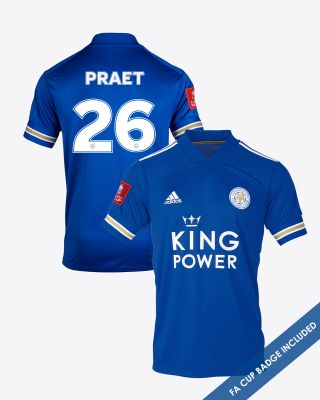Dennis Praet - Leicester City King Power Home Shirt 2020/21 - FA CUP