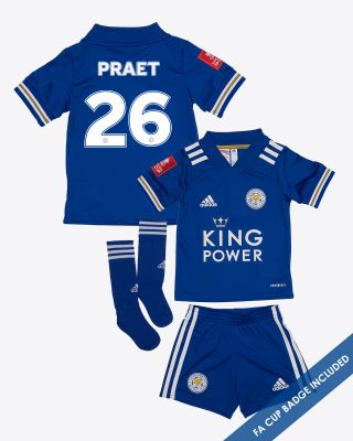 Dennis Praet - Leicester City King Power Home Shirt 2020/21- Mini Kit FA CUP