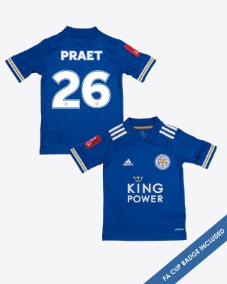 Dennis Praet - Leicester City King Power Home Shirt 2020/21 - Kids FA CUP