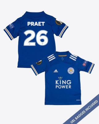 Dennis Praet - Leicester City King Power Home Shirt 2020/21 - Kids UEL