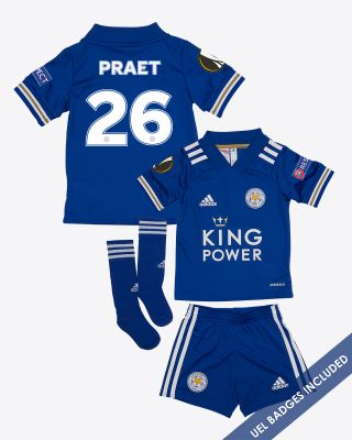 Dennis Praet - Leicester City King Power Home Shirt 2020/21 - Mini Kit UEL