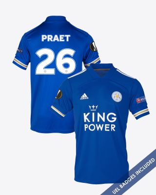 Dennis Praet - Leicester City King Power Home Shirt 2020/21 - UEL
