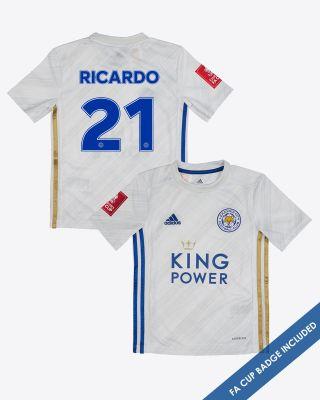 Pereira Ricardo  - Leicester City Away Shirt 2020/21 - Kids FA CUP