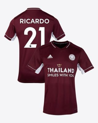 Pereira Ricardo  - Leicester City Maroon Away Shirt 2020/21 - Kids