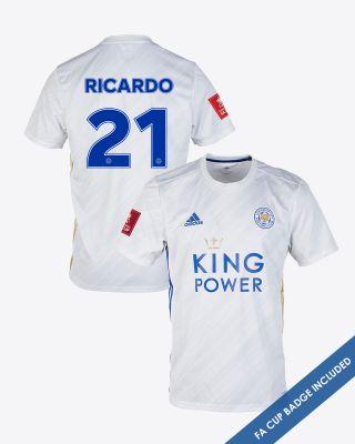 Pereira Ricardo  - Leicester City White Away Shirt 2020/21 - FA CUP