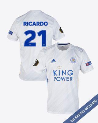 Pereira Ricardo  - Leicester City White Away Shirt 2020/21 - UEL