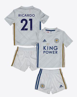 Pereira Ricardo  - Leicester City White Away Shirt 2020/21 - Mini Kit