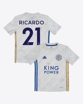 Pereira Ricardo  - Leicester City White Away Shirt 2020/21 - Kids