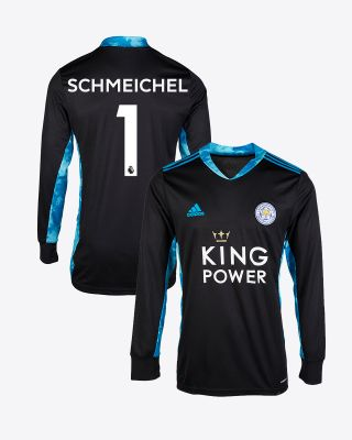 Kasper Schmeichel - Leicester City King Power Goalkeeper Shirt Black 2020/21 - Kids