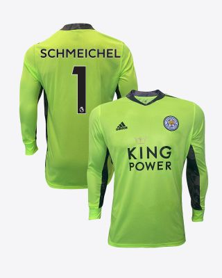 Kasper Schmeichel - Leicester City King Power Goalkeeper Shirt Green 2020/21 - Kids