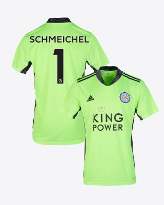 Kasper Schmeichel - Leicester City King Power S/S Goalkeeper Shirt Green 2020/21