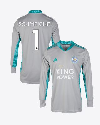 Kasper Schmeichel - Leicester City King Power Goalkeeper Shirt Grey 2020/21 - Kids