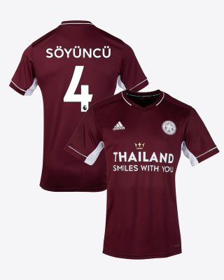 Çağlar Soyuncu - Leicester City Maroon Away Shirt 2020/21 - Kids
