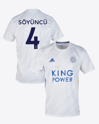 Çağlar Soyuncu - Leicester City White Away Shirt 2020/21