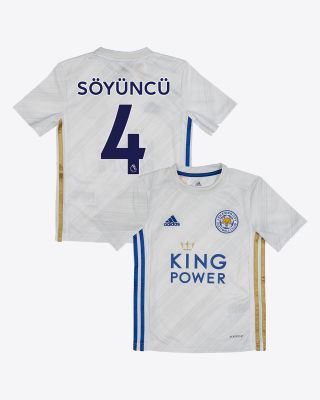 Çağlar Soyuncu - Leicester City White Away Shirt 2020/21 - Kids