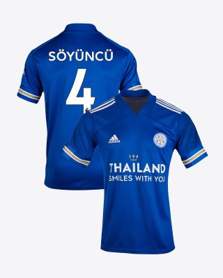 Caglar Soyuncu - Leicester City TSWY Home Shirt 2020/21 - Kids