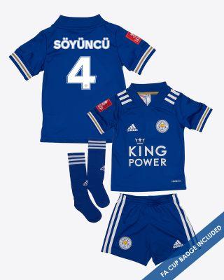 Caglar Soyuncu - Leicester City King Power Home Shirt 2020/21- Mini Kit FA CUP