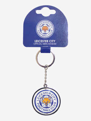 Leicester City Spinning Crest Keyring