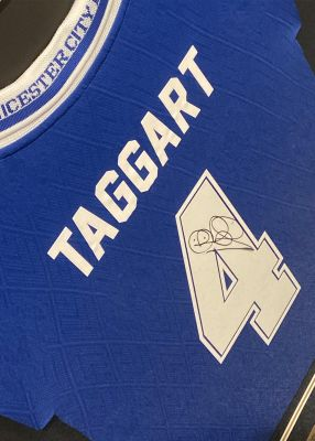 Leicester City Gerry Taggart Framed Shirt