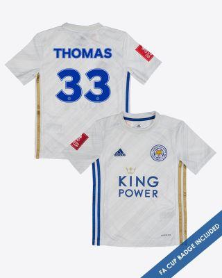 Luke Thomas - Leicester City Away Shirt 2020/21 - Kids FA CUP