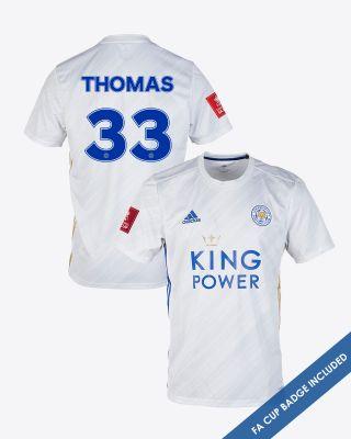 Luke Thomas - Leicester City White Away Shirt 2020/21 - FA CUP