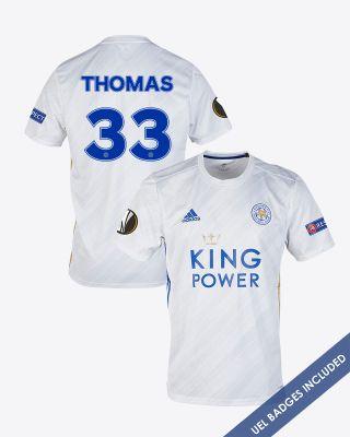 Luke Thomas - Leicester City White Away Shirt 2020/21 - UEL