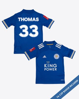 Luke Thomas - Leicester City King Power Home Shirt 2020/21 - Kids FA CUP