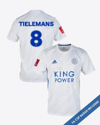 Youri Tielemans - Leicester City White Away Shirt 2020/21 - FA CUP