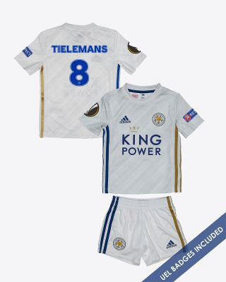 Youri Tielemans - Leicester City Away Shirt 2020/21 - Mini Kit UEL